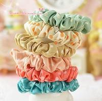 2013  hot sell Polka dots elastic hairband  girls hair accessories wholesale flower hair ties 100pcs/lot  FREE SHIPPING