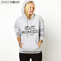 Brand design womens long sleeve hooded sweatshirts with hommies print  for dropship