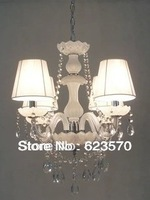 Free shipping 4bulbs Glass chandelier,European Candle Crystal Chandelier.White Color Glass Chandeier.Top Sale Item8012-4