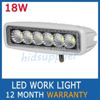 1PCS 18W White FLOOD BEAM LED WORK OFFROADS LAMP LIGHT TRUCK BOAT 12V 24V 4WD 4x4 Driving Lights