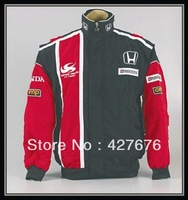 2014Formula one racing suit long-sleeved cotton-padded jacket trench coat jacket all embroidery A047