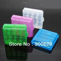 100 pcs Hard Plastic Battery Box Storage Case Holder F AA AAA Batteries