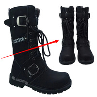 2013 fashion cow leather boots male boots boots high leg boots