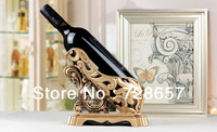 Antique and Fashionable Resin Hollow Out Wine Bottle Rack Ornamental Furnishing Gift Craftworks Embellishment Accessories