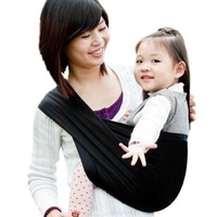 Black Cotton Baby Toddler Sling Carrier Wrap Pouch NEW