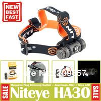 New 2014 Niteye HA30 Cree Headlamp 260LM HeadLight Power By 3*AAA Magnetic Ring Dimming Camping Hiking Fishing Led Head lamps
