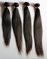 "mix length 100% indian virgin human hair extension machine weft top quality 10""-32"" straight 5 pcs/lot"