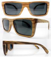 Hot Sale Free Shipping Natural Wood Made Sunglasses Polarization Sunglasses Zebra Wood Frame Model 6010