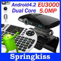 EU3000 5.0MP Camera Google Android 4.2 Dual Core TV Box 1GB RAM 8GB ROM Mini PC HDMI HD 3D TV XBMC + Keyboard UKB500