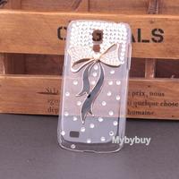 Bling 3D Cute Crystal Diamond Handmade Bow Hard Case Cover For Samsung Galaxy S4  Mini i9190