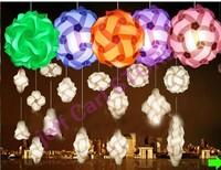 wholesale free shipping iq puzzle lamp iq jigsaw lights M size 300pcs per lot and 10 pcs  power cord with plug