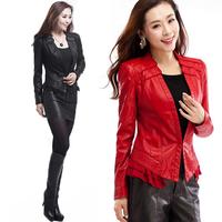 2015 spring autumn jaqueta couro women slim Leather women clothing  small leather jacket women outerwear coats 49