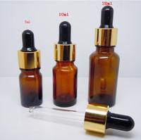 Rubber head dropper bottle, essential oil bottle, diy filling subpackage bottle, glass bottle, 5 ml ,free shipping,drop shipping
