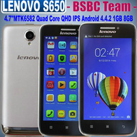 "Free Shipping Original 4.7""Lenovo S650 LenovoS650 A789 Vibe X mini MTK6582 Quad Core 1.3GHz Android4.2 1GB/8GB Dual Camera 8.0Mp"