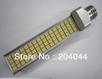 free shipping,100pcs/lot G23/G24 base,led pl lamp with 64pcs smd5050,85-265v led, free shippimng