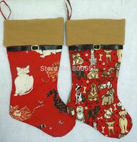 "20"" cat stocking and dog stocking, pet Christmas stockings"
