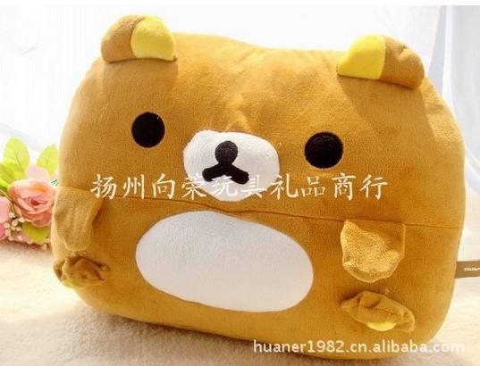 Wholesale Retail Rilakkuma bear pillow easy bear pillow cushion double Ears cartoon pillow,free shipping(China (Mainland))