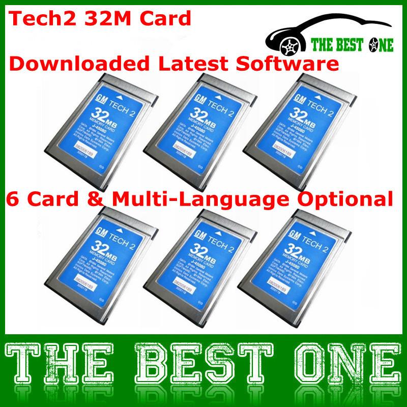 6 Latest Software+6 Card Optional Tech2 32MB Card For GM / Saab / Holden / Suzuki / Isuzu/ Opel Tech 2 Memory Card 32MB CNP Free(China (Mainland))
