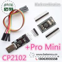 Free Shipping 1LOT=2PCS=1PCS BTE13-007 CP2102 Serial Converter USB 2.0 To TTL +1PCS BTE13-010 Pro Mini