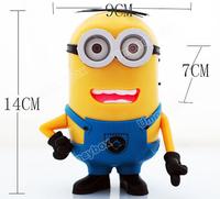 Popular Speaker XC-02 Despicable Me Cute Minions Mini Speaker Support MP3/TF Card/FM Radio (Yellow)