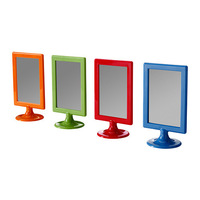 4 pieces/lot assorted colours plastic  two sides photo frames