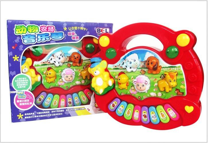 2344 Animal Farm Music Piano Baby Initiation/Education Puzzle Toy Electronic Organ(China (Mainland))