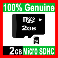 80pcs WHOLESALE - 100% GENUINE NEW 2GB MICROSD MICRO SD HC MICROSDHC TF FLASH MEMORY CARD REAL 2 GB WITH SD ADAPTER