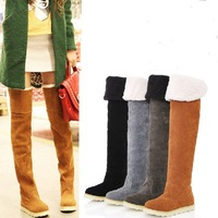 Free shipping women's shoes ankle ladies half over the knee snow boots for women winter women boots