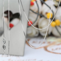 Wholesale 10pcs/lot Genuine 100% Real Pure 925 Sterling Silver box chain sterling silver necklaces for Pendants, silver jewelry