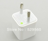 10pcs Free shipping Mini USB 5V 1A EU AC Power Charger Adapter For iphone 4 4S 5 white