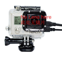 For gopro go pro accessories Skeleton Protective Housing without Lens for Gopro hero 3 Open Side for FPV without cable
