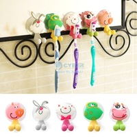 Cheap 15pcs/lot Hot Cute Cartoon Sucker Toothbrush Holder / Suction Hooks 19001