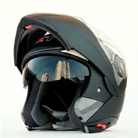 Free shipping!GXT double lens motorcycle helmet flip up full face helmet vintage dual lens racing capacete ECE approved
