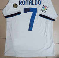Free Shipping Real Madrid home white soccer jersey best Thai thailand quality 2012 13 ronaldo 7# soccer uniforms football shirt