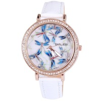 Наручные часы Teenage Young Girls Casual Rhinestone Dress Watch Retro Book and Flower Mini Crystal Multi Color Leather Strap Gift Relojes
