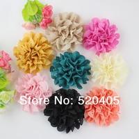 50 PCS Children Accessories Fabric Flower for baby headband 100% hair made hair accessories hair band DIY flower wholesale