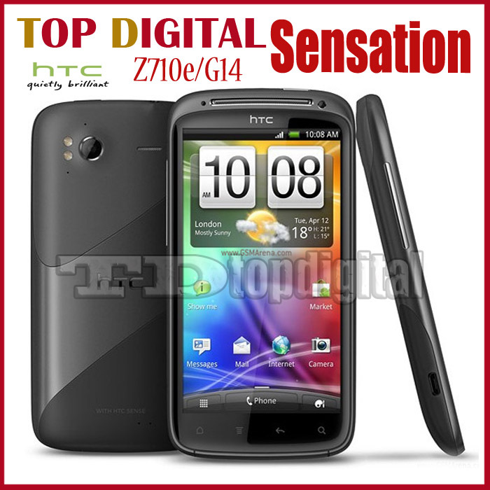 G14 Unlocked Original HTC Sensation Z710e Android 3G 8MP GPS WIFI 4.3''TouchScreen Mobile Phone One Year Warranty(China (Mainland))