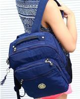 KP-044 New 2014 hot water resistant nylon printing zipper backpack women girls  backpack school bag free shipping