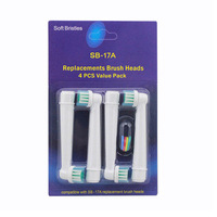 400pcs FREE SHIPPING DHL/ems/fedex for toothbrush head oral EB17-4 sb-17a EB17 SB17A  aliexpress uk 100pack