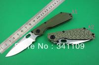 Colorful strider high-end (two-color) G10 handle folding Tactical knife black tank M.stride HRC61-62 D2 Steel knives knifebase