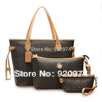 Free Shipping A Price Three Bags Women's Handbag PVC Female Bags Fashion Trend Of The Shoulder Bag Messenger Bag Vintage Bag