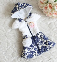 Autumn new girls hooded vest cute little girl clip