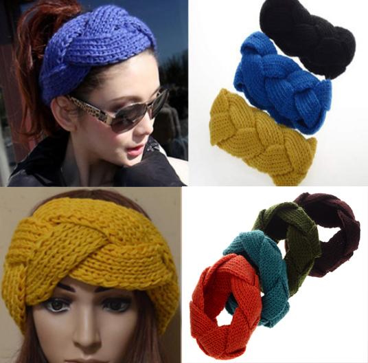Fashion Winter Wide 8cm Crochet kintting wool Headwrap Ear Warmer Headband For women[CW05004](China (Mainland))