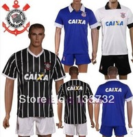 New 13/14 Corinthians 3rd blank blue Soccer Jersey 2013-2014 Football Kit Cheap Soccer Uniform free shipping