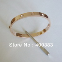 Wholesale High Quality Fashion 316L Stainless Steel Screw Bangle Bracelet with Screwdriver