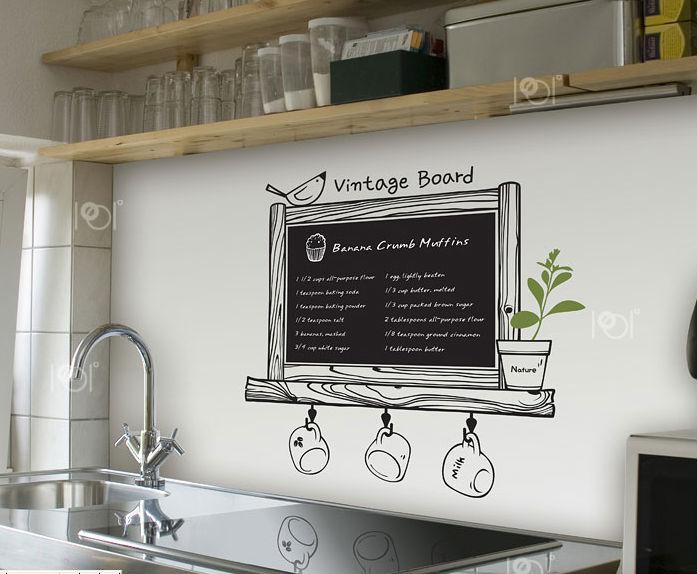 Krijtbord Keuken Kopen : Kitchen Coffee Bar Chalkboard Wall