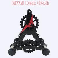 1pc High Quality Europe Style Gear Desk Clock & Modern Mini Eiffel Tower Model Table Clock For Home Decor Clock