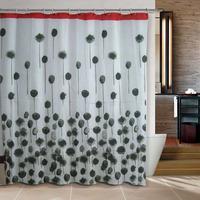 Bathroom products pink  Flowers and stones bathroom shower curtain terylene bath curtain 180x180cm ,screen shower,curtain bath