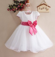 Wholesale New 2013 Christmas Clothing New Year Kids Clothes Girls' Tutu Dresses Big Bow Princess Girl Party Dress Girl Dress