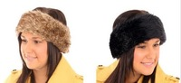 Ladies Faux Fur Fashion Headband Fleece Lined Womens Earwarmers Ear Muffs Crochet Headbands For AdultsFD0020